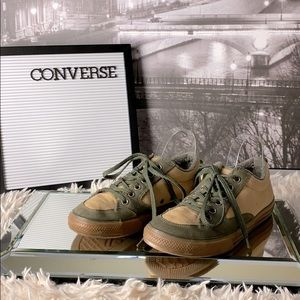 Converse Olive Green and Tan Canvas All Stars